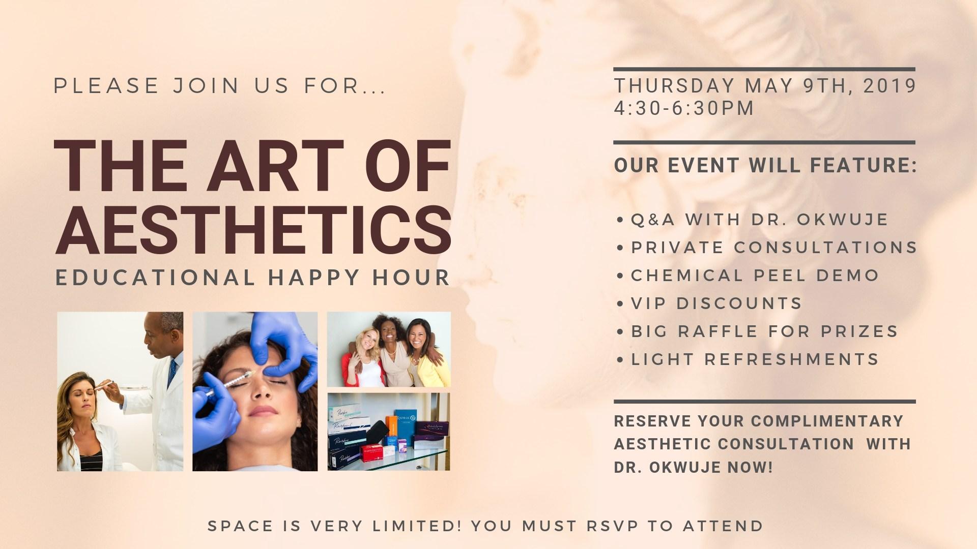 The Art of Aesthetics Happy Hour